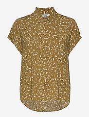Samsøe Samsøe - Majan ss shirt aop 9942 - kortermede skjorter - feuilles khaki - 0