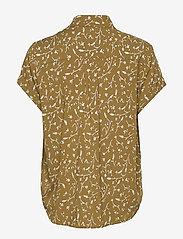 Samsøe Samsøe - Majan ss shirt aop 9942 - kortermede skjorter - feuilles khaki - 1