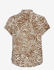 Samsøe Samsøe - Majan ss shirt aop 9942 - overhemden met korte mouwen - mountain zebra - 1