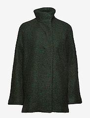 Samsøe Samsøe - Helle jacket 6182 - wełniane kurtki - shady glade mel. - 1
