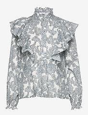 Samsøe Samsøe - Martha shirt aop 11159 - långärmade blusar - tapestry - 0