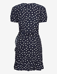 Samsøe Samsøe - Linetta dress aop 10056 - omlottklänningar - blue doodle dot - 2