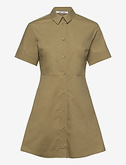 Samsøe Samsøe - Barbara short dress 10783 - skjortekjoler - olive grey - 0
