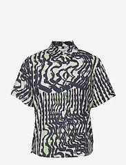 Samsøe Samsøe - Mina shirt ss aop 11332 - koszule z krótkim rękawem - seismograph - 0
