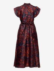 Samsøe Samsøe - Karookh long dress aop 11244 - kveldskjoler - fired crepitus - 1