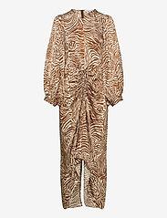 Samsøe Samsøe - Daaliya long dress aop 12887 - maxikjoler - mountain zebra - 1