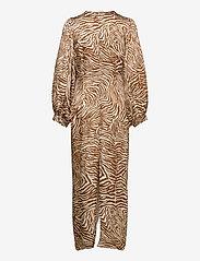 Samsøe Samsøe - Daaliya long dress aop 12887 - maxikjoler - mountain zebra - 2