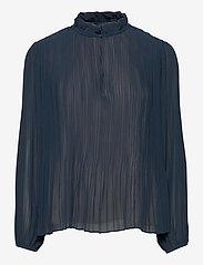 Samsøe Samsøe - Lady ls blouse 11185 - langærmede bluser - midnight navy - 0