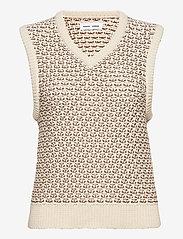 Samsøe Samsøe - Ella vest 12935 - knitted vests - eggnog - 1