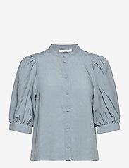 Samsøe Samsøe - Mejse shirt 12771 - kortærmede skjorter - dusty blue - 1