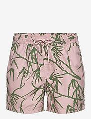 Samsøe Samsøe - Mason swim shorts aop 6956 - badehosen - misty rose palm - 0