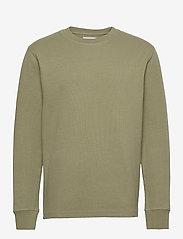 Samsøe Samsøe - Chidi t-shirt ls 11597 - basic t-shirts - deep lichen green - 0
