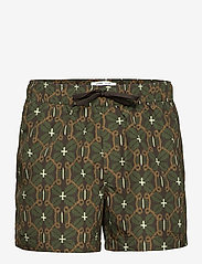 Samsøe Samsøe - Mason swim shorts aop 13082 - shorts de bain - chocolate salaba - 0