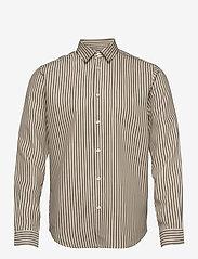Samsøe Samsøe - Liam NX shirt 13084 - geruite overhemden - deep lichen green st. - 0