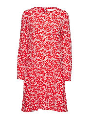 Mille ls dress aop 10458 - SCARLET DAISY