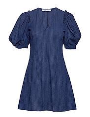 Petulie dress 12732 - BLUE DEPTH CHECK
