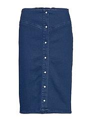 Bertha long skirt 11492 - INDIGO BLUE