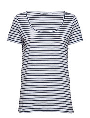Nobel tee stripe 3173 - 3173 BLUE STRIPE