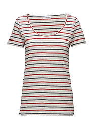 Nobel tee stripe 3173 - 3173 REDBLUE