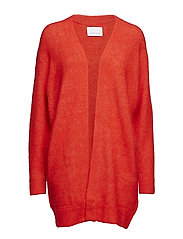 Nor cardigan 7355 - FLAME SCARLET