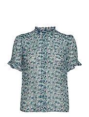 Rosella shirt aop 9695 - FORGET ME NOT