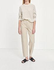 Samsøe Samsøe - Boston o-neck stripe 6304 - džemperi - whisper white st - 0
