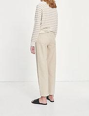 Samsøe Samsøe - Boston o-neck stripe 6304 - džemperi - whisper white st - 3