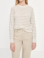 Samsøe Samsøe - Boston o-neck stripe 6304 - džemperi - whisper white st - 4