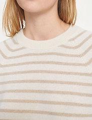 Samsøe Samsøe - Boston o-neck stripe 6304 - džemperi - whisper white st - 5