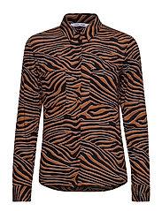Milly shirt aop 7201 - ARGAN MOONSCAPE