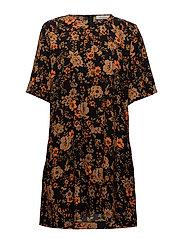 Adelaide dress aop 6515 - BLACK BLOOM