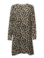Marice ls dress aop 9315 - LEOPARD JAUNE
