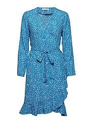 Limon ls dress aop 6515 - BLUE BUTTERCUP