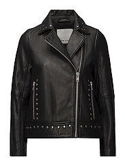 Collard jacket 7501 - BLACK