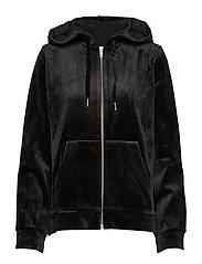 Kaci zip hoodie 9545 - BLACK