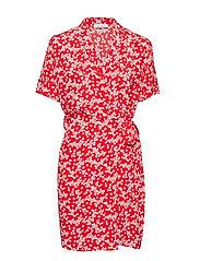 Evette ss dress aop 10056 - SCARLET DAISY