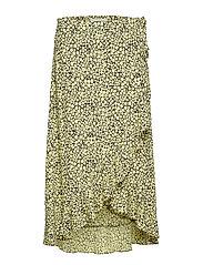 Limon l wrap skirt aop 6515 - YELLOW BUTTERCUP