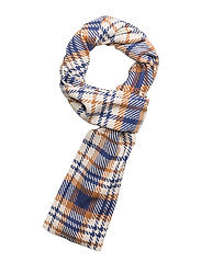 Accola long scarf 2862 - BLUE CHECK