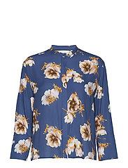 Elm shirt aop 8083 - BLUE FLORAL