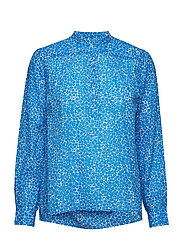 Ira ls shirt aop 10761 - BLUE BUTTERCUP