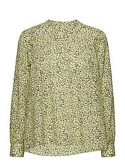 Ira ls shirt aop 10761 - YELLOW BUTTERCUP