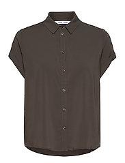 Majan ss shirt 9942 - BLACK OLIVE