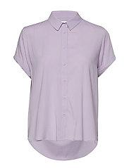 Majan ss shirt 9942 - PASTEL LILAC