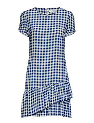 Monza short dress aop 10458 - BLU CUBETTO