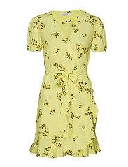 Linetta dress aop 6515 - YELLOW BREEZE
