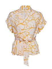 Venice blouse ss aop 8083 - WATERLILY