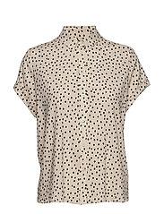 Majan ss shirt aop 9942 - BLACK DROPS