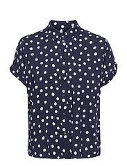 Majan ss shirt aop 9942 - BLUE DOODLE DOT