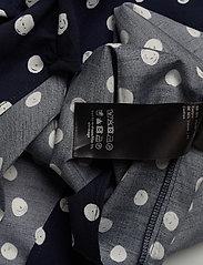 Samsøe Samsøe - Majan ss shirt aop 9942 - kortærmede skjorter - blue doodle dot - 2