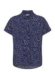Majan ss shirt aop 9942 - BLUE NAIROBI
